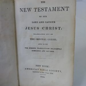 The New Testament 1844 Antique Leather Bound